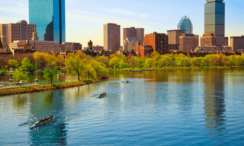The Charles River in Boston, MA