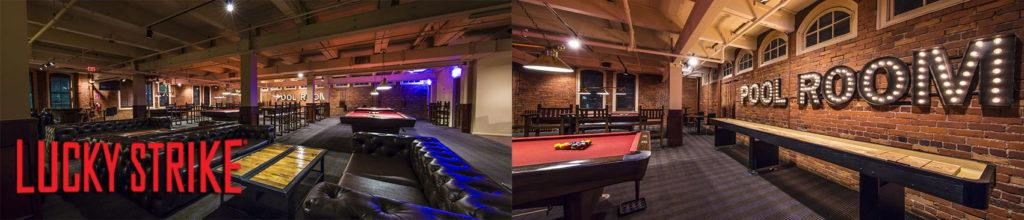 Lucky Strike Pool room and pool tables