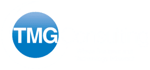 TMG Consulting Company Logo in White